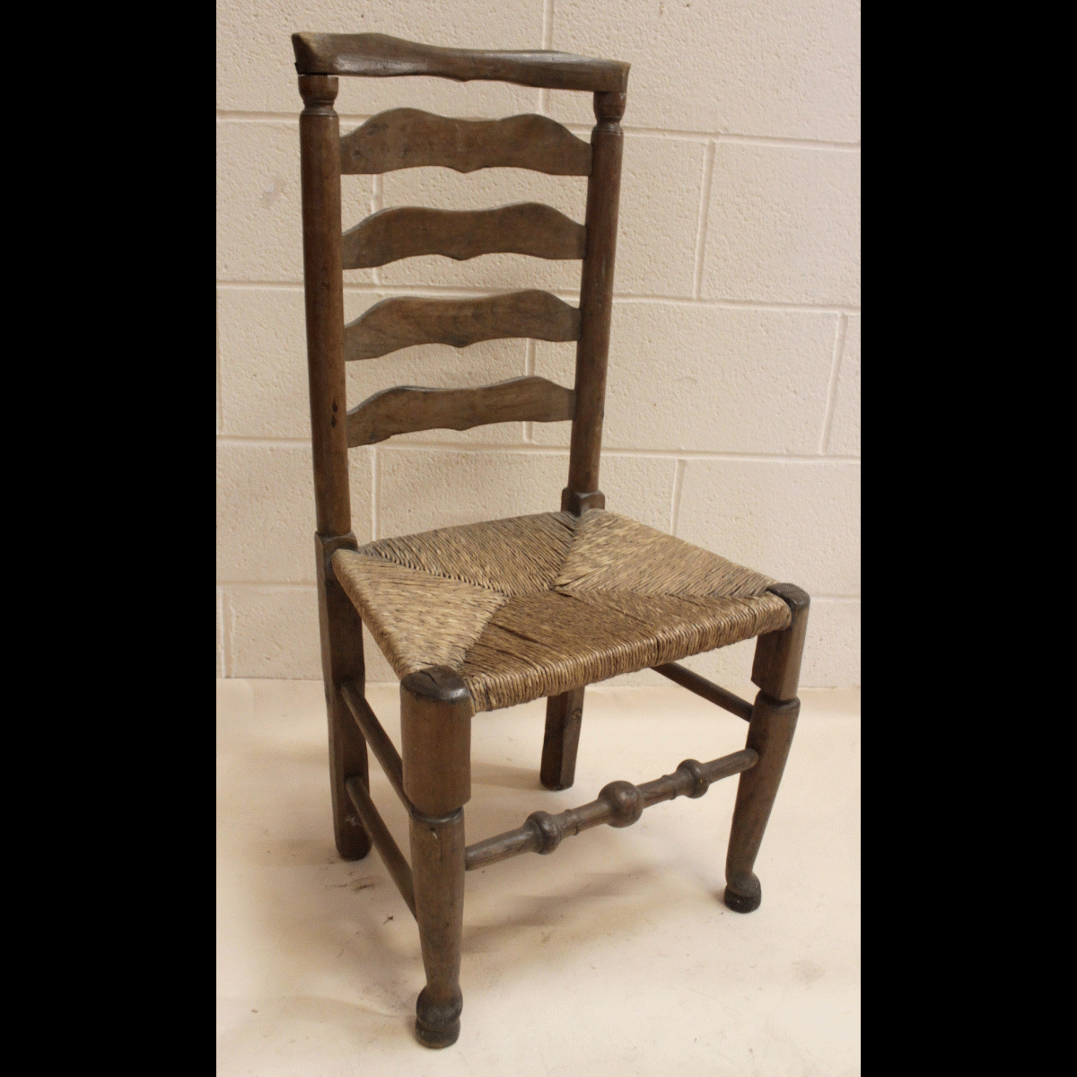 0085214 Tall Ladder Back Chair X1 98cm Long 47cm Wide Stockyard North