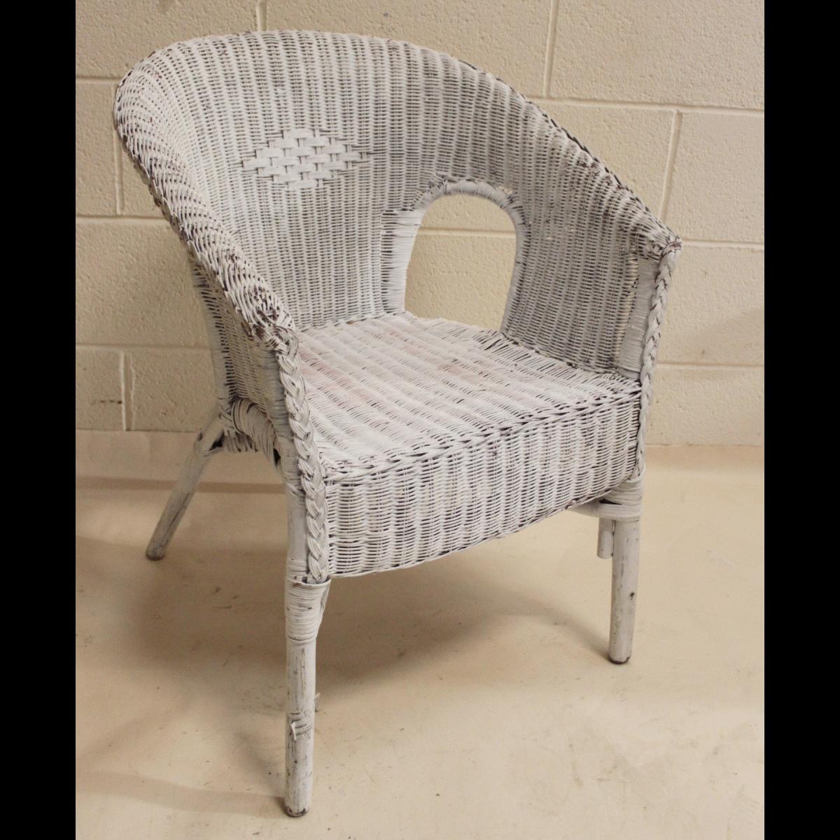 0085347 Wicker Chairs X2 77cm Long By 59cm Wide