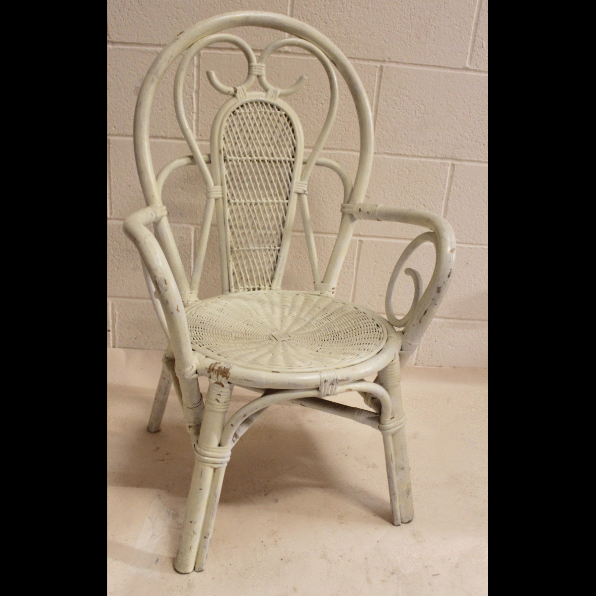 0085349 Bentwood Large Wicker Chair X1 99cm Long By 60cm