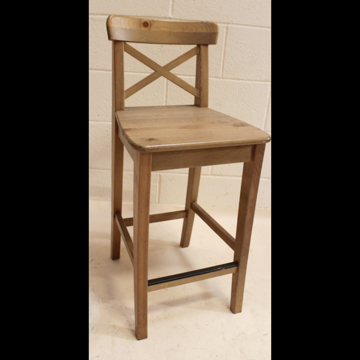 All wood bar stools cm long by wide