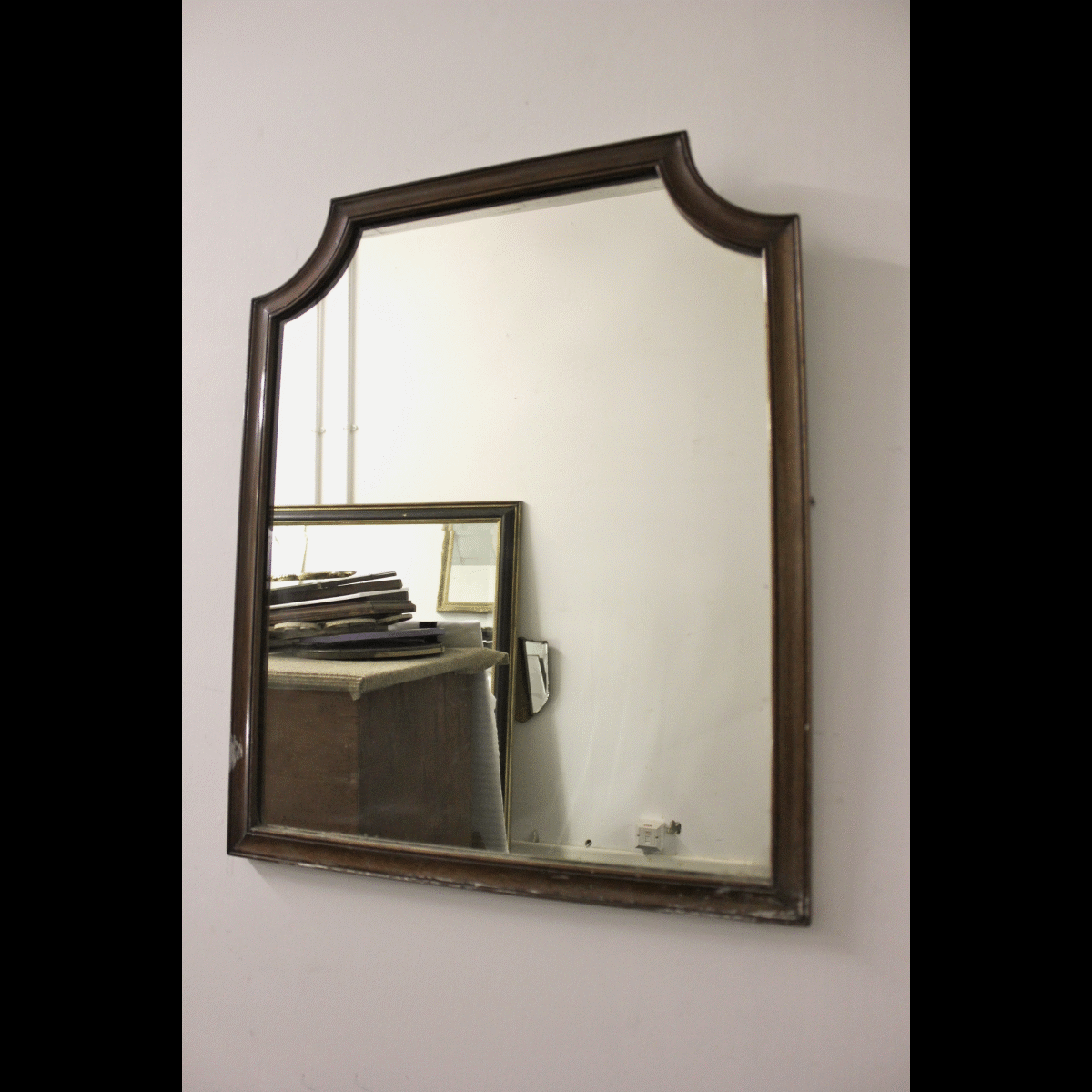 0070006 mirror x1 wooden framed mirror 61cm long by 51cm for Long wide mirror