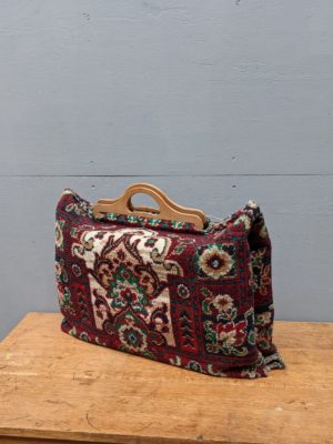 carpet bag wooden handles