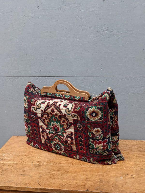 carpet bag wooden handles