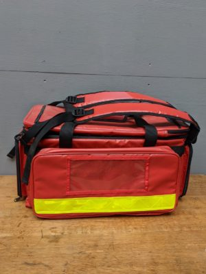 Red postmans shoulder bag