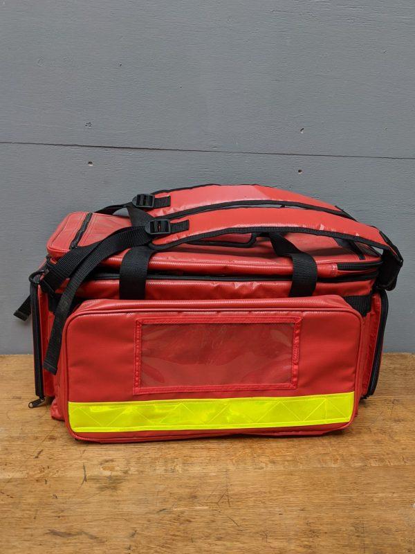 Red postmans shoulder bag