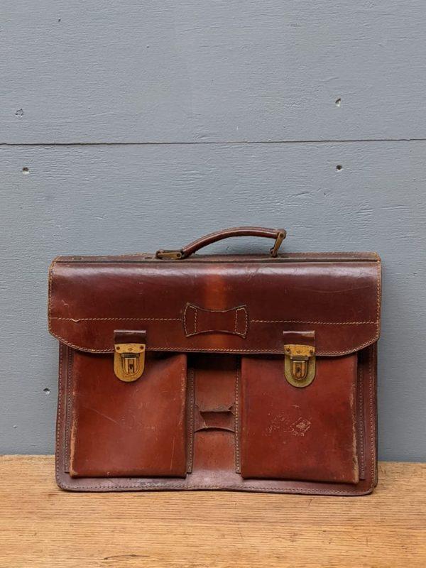 leather tan briefcase