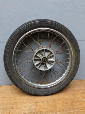 vintage moped wheel