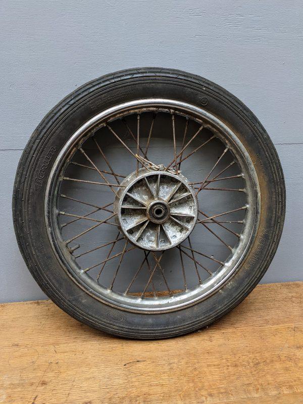vintage moped wheel