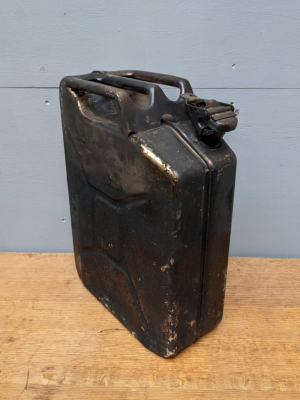 black metal jerry can