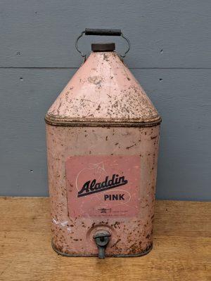 vintage pink paraffin can