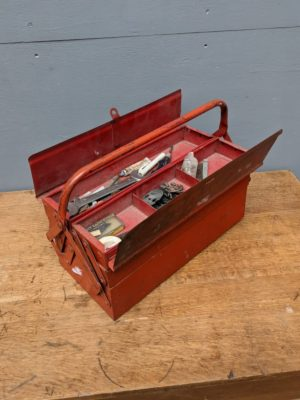 tool box red metal